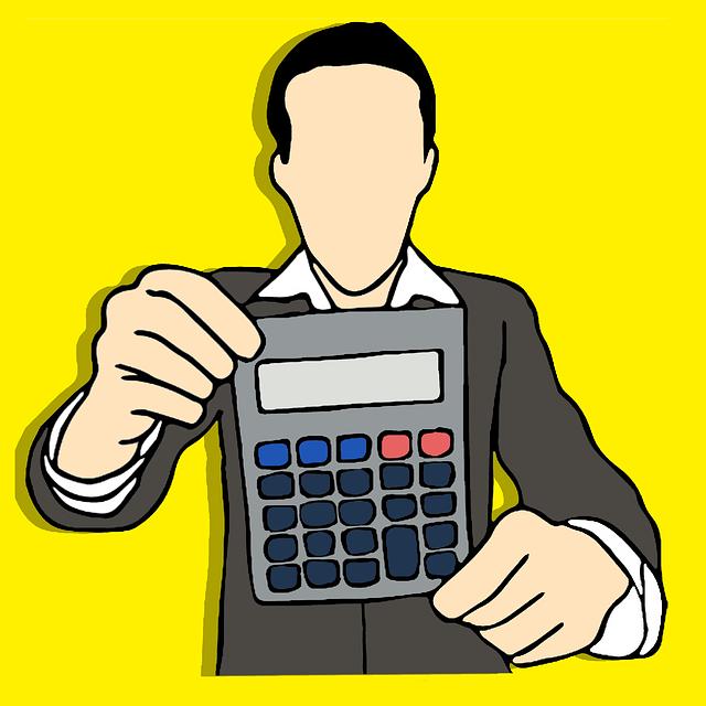muž s kalkulačkou